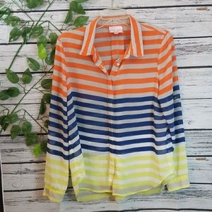 NWOT Romeo & Juliet Couture striped button down M